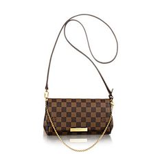 Clutch Favorite PM em canvas Damier Ébène, bolsa feminina | LOUIS VUITTON