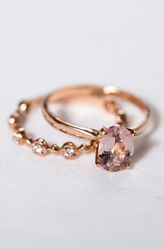 Lovely Clusters - Beautiful Shops: Rose Gold Oval Engagement Ring