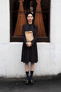 Han Jihyun, Street Fashion 2017 in Seoul