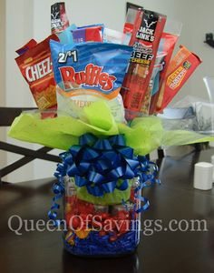 Father's Day Snack Bouquet #fathersday #snacks #bouquet