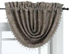 Croscill Europa Waterfall Swag Valance by Croscill. $49.99. It is recommended that one swag be used for every 24 inches of window for custom fullness. Coordinating pole top drapes and bedding are available. Dry clean only. Tassel fringe with teardrop beads trim the bottom edge of the valance. The top of the swag has a 3-1/2-inch rod pocket for decorative poles or continental rods. Croscill's Europa bedding ensemble is a contemporary take on traditional patterns and designs. In ...