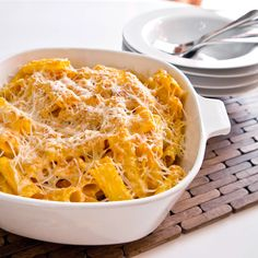 This parmesan pumpkin pasta bake is just as fun to eat as it is to make.