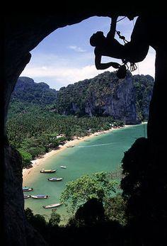 Rock Climbing, Koh Yao Noi, Thailand