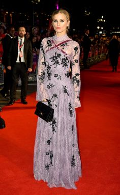 Laura Bailey in Erdem | London Film Festival 2017