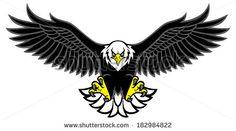 Eagle Mascot Spread The Wings Stock Vector 182984822 : Shutterstock