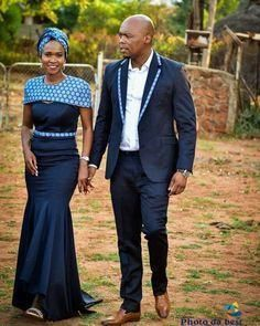 African sotho Shweshwe dresses for 2020 ⋆ African Traditional Wedding Dress, Traditional Wedding Attire, Traditional Outfits, Traditional Weddings, African Wedding Attire, African Attire, African Dress, African Weddings, African Wear
