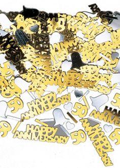 50thweddinganniversaryprogramwording wording examples for 50thweddinganniversarytableideas decorations party table confetti golden wedding junglespirit Image collections