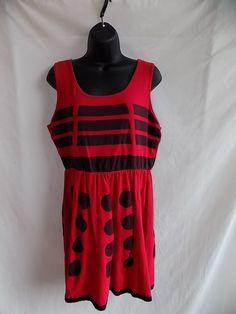 cc1f04fdca8f Her Universe Size XL Women Red Dalek Tank Dress BBC Dr Who cosplay  #HerUniverse #TShirtDress
