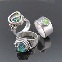 hammered ring precious metal clay techniques - Google Search