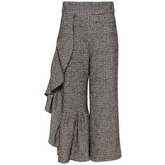Rachel Comey - Houndstooth Revel Wool Pants (8,390 MXN) ❤ liked on Polyvore featuring pants, capris, woolen pants, rachel comey, high waisted crop pants, high-waisted trousers and cropped pants