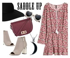 saddle up by maria-maldonado on Polyvore featuring polyvore, fashion, style, H&M, Vince, Warehouse, Carolina Glamour Collection, Monki and saddleup