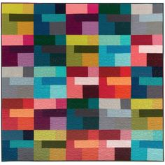 Colored Happy Free Quilt Pattern