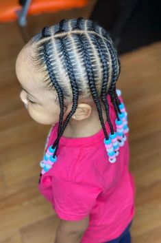 Little Girls Natural Hairstyles, Toddler Braided Hairstyles, Toddler Braids, Cute Little Girl Hairstyles, Black Kids Hairstyles, Baby Girl Hairstyles, Braids For Kids, Braids For Black Kids, Little Girl Braid Styles