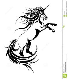 Illustration about The vector image of the mythical stylized unicorn from composite circuits on a white background. Illustration of hair, power, animal - 16509042 Unicorn Tattoos, Mandala Art, Image Photography, Science Nature, Paper Cutting, Tribal Tattoos, Stencil, Horses, Illustration