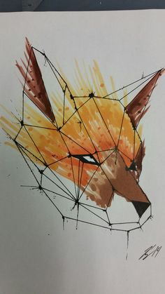 Geometric fox by RayMack204.deviantart.com on @DeviantArt