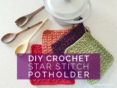DIY Crochet Star Stitch Potholder - Petit Bout de Chou