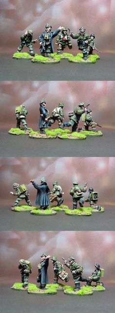 Waffen SS HQ Commission Painting Scale: 1/56(28mm) Manufacturer: Warlord Games UK Game: BOLT ACTION Painted by: OMP(Olsianon Miniatures Painting)
