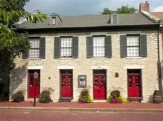 Old stone row in St. Charles MO