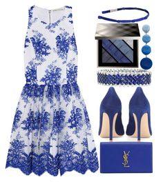 """Everything Is Blue"" by egordon2 on Polyvore featuring Alice + Olivia, Gianvito Rossi, Yves Saint Laurent, Burberry, Rebecca de Ravenel and Gina Made It"