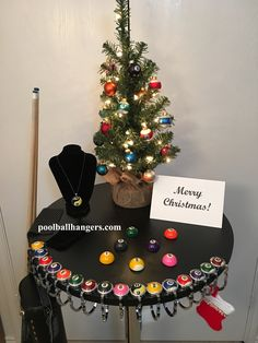 """$11.00 *Listing is for (1) Pool Ball Hanger *20lb rating * 1.5"""" resin ball (Sliver) top. *Comes with velvet bag for transporting and storage. *Very small, stores anywhere in your case. *Weight - 2.8 oz *Choose as many as you like. *Buy more and save. 2=5% discount, 3=10% discount, 4 or more=20% discount Available: 1 2 3 4 5 6 7 Black 8 Pink 8 9 10 11 12 13 14 15 Billiard Accessories, Tree Skirts, Hangers, Merry Christmas, Holiday Decor, Home Decor, Merry Little Christmas, Homemade Home Decor, Decoration Home"""