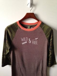 Hey, I found this really awesome Etsy listing at http://www.etsy.com/listing/164211994/wild-free-baseball-tee