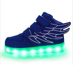 Shoes 2018 New Fashion Adult Led Shoes Mesh Breathable Men Shoes Printing Lace-up Glowing Lovers Sneakers Big Kids Shoes Size 36-44 Volume Large Men's Casual Shoes