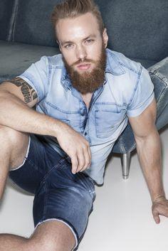 New Campaign Spring Summer 17 Club Denim #beard #boy #denimboy
