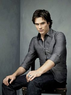 "Ian Somerhalder ""Damon"" Vampire Diaries Come on fall I'm ready for the new season."