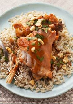 Slow-Cooker Thai Chicken Thighs – A slow simmer in the slow cooker is the perfect way to prepare these Thai chicken thighs, which come out tender, juicy and full of sesame-ginger flavor.