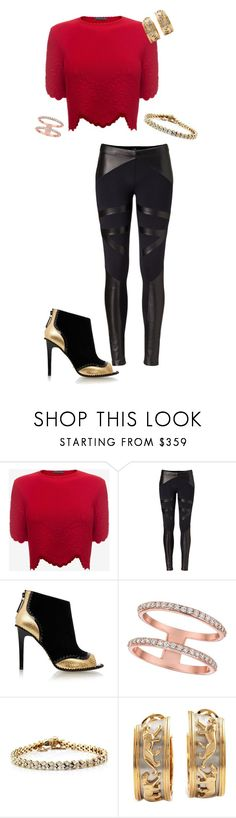 """""""Jacquie/Emile"""" by gemini-project on Polyvore featuring Alexander McQueen, David Lerner, Kat Maconie, Morris & David and Cartier"""