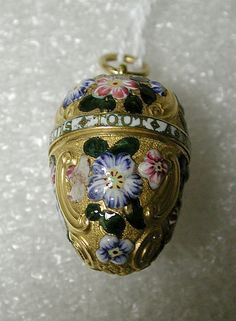 Vinaigrette, ca. 1755-60, British, gold and enamel - (a small ornamental bottle for holding smelling salts).
