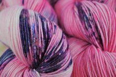 Bubblegum Scum - Hand Dyed Merino Superwash Fingering Yarn Nobara by CasualFashionQueen on Etsy