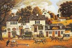 "Charles Wysocki Art | Charles Wysocki's ""Olde Cape Cod"" part of the Olde New England Series"