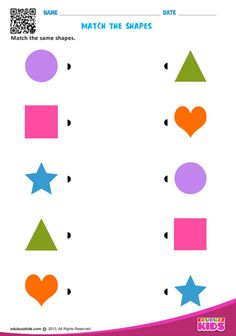 edubuzzkids - Printable shapes worksheets for kids & preschoolers. These preschool help kids to recognize and match the shapes square, circle, triangle etc. Shape Worksheets For Preschool, Shapes Worksheets, Free Kindergarten Worksheets, Preschool Printables, Matching Worksheets, Toddler Worksheets, Preschool Learning Activities, Vocabulary Activities, Printable Shapes