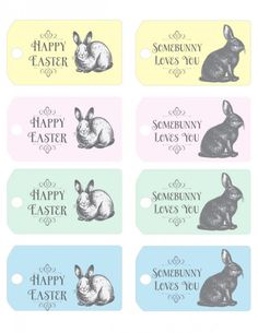 Free printable easter egg gift tags cards easter pinterest free easter printable vintage easter tags negle Choice Image