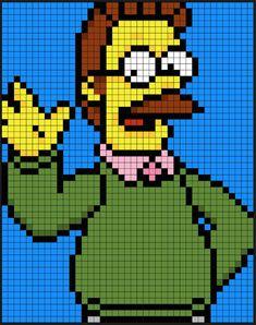 Hey DIYers! Enjoy these patterns of Homer, Marge, Bart, Lisa, and Maggie. BONUS: Flanders and Scorpio! Woohoo!