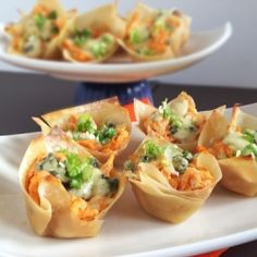 Quick and Easy Appetizer for game day! Filled with Buffalo Chicken flavor.