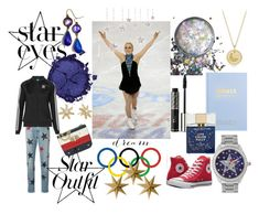 """""""Going for Gold"""" by sallytcrosswell ❤ liked on Polyvore featuring Pat McGrath, kikki.K, Christian Dior, Betsey Johnson, STELLA McCARTNEY, adidas Originals, David Yurman, Tommy Hilfiger, Converse and Kate Spade"""