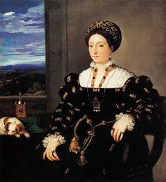 TIZIANO Vecellio  Eleonora Gonzaga  c. 1538  Oil on canvas, 114 x 102 cm  Galleria degli Uffizi, Florence