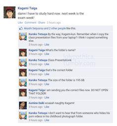 Kagami… In which Kuroko had a new external harddrive.