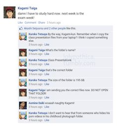 Kagami… In which Kuroko had a new external harddrive.