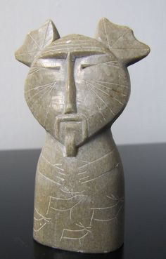 Soapstone Carved 'Ancient' Man - probably made in the 60s or 70s, I'm not sure what culture it's referencing...perhaps a made up one!