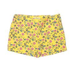 Ann Taylor LOFT Khaki Shorts ($14) ❤ liked on Polyvore featuring shorts, yellow, cotton shorts, loft shorts, yellow khaki shorts, yellow shorts and khaki shorts