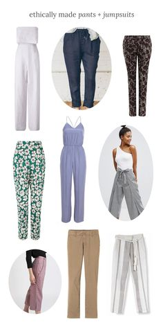 Read our conscious shopping guide to find our fave ethically made pants and jumpsuits - Conscious Shop Collective