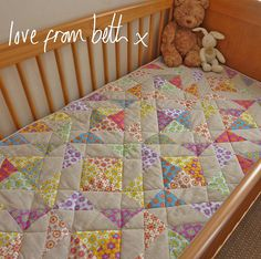 circus triangles quilt - in cot | Flickr - Photo Sharing!