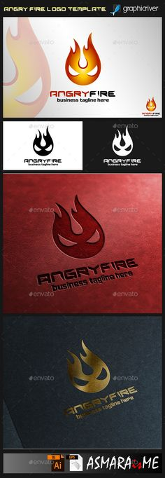 Angry Fire - Logo Design Template Vector #logotype Download it here: http://graphicriver.net/item/angry-fire-logo/9478924?s_rank=1060?ref=nexion