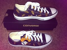 OSU Oklahoma State University Converse by ArtRebell on Etsy, $75.00