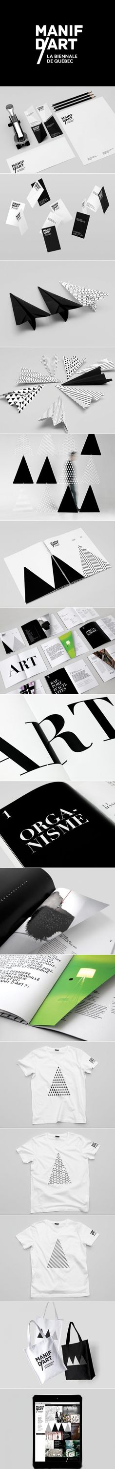 Cool Brand Identity Design on the Internet. Manif D'Art. #branding #brandidentity #identitydesign @ http://www.pinterest.com/alfredchong/brand-identity/
