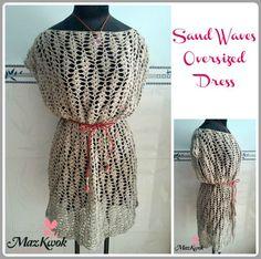 crochet oversized dress