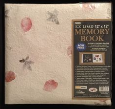 "Pioneer EZ Load 12"" x 12"" Memory Book Blossom NEW! Archival Acid Free Scrapbook"